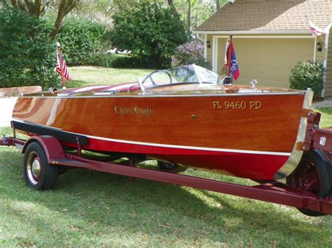 wooden boats for sale florida 1935 chris craft runabout double cockpit powerboat for