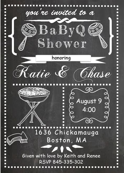 Babyq Baby Shower Invitations Summer 2018 Baby Q Invitations Templates Free
