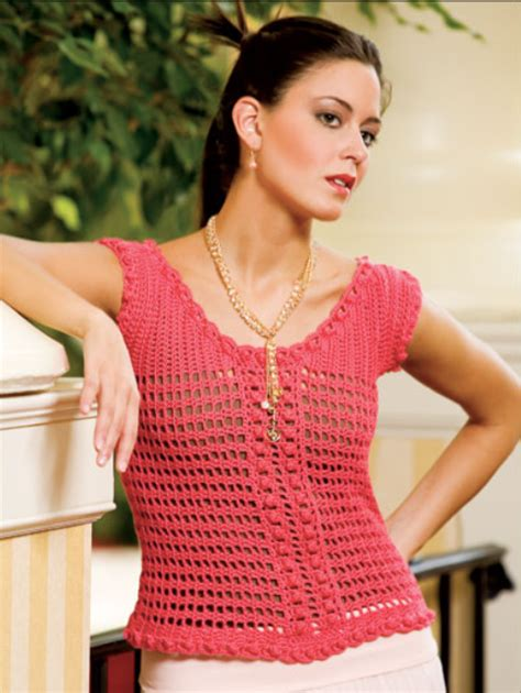oswal knitting yarn sweet nothings crochet mango mesh top