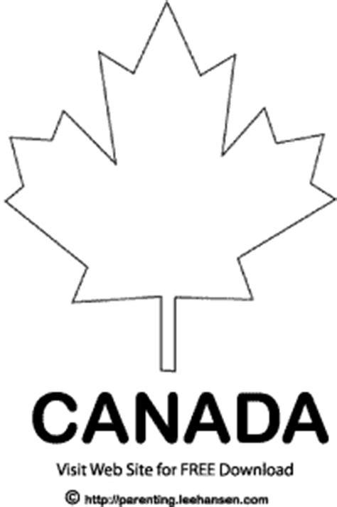 canadian leaf coloring page homeschooling adventures june 2010