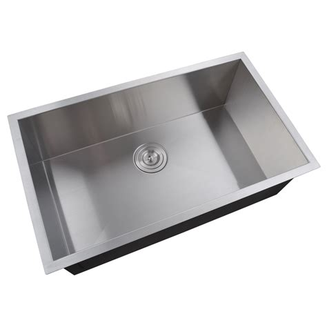 30 stainless steel sink kes 30 inch kitchen sink stainless steel single bowl