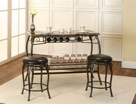 Marble Dining Room Suites by Marque 3 Pk Faux Marble Pub Set The Furniture Depots