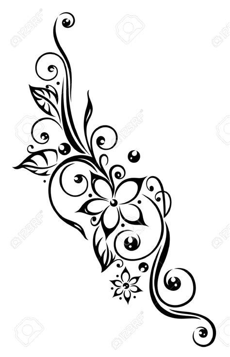 tattoo flower vector black flowers illustration tribal tattoo style flor