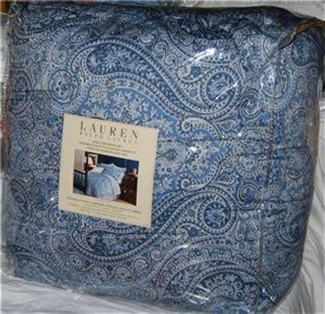 ralph lauren blue paisley comforter ralph lauren townsend paisley blue king comforter set new