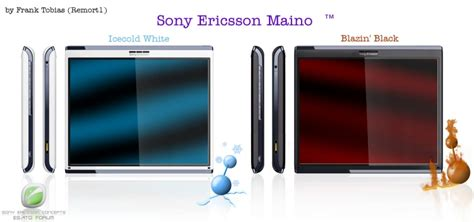 Tablet Sony Erikson sony ericsson maino tablet design rival concept phones