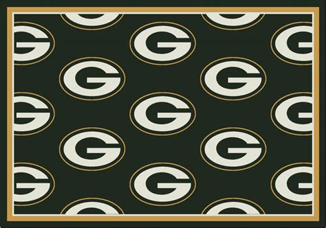 green bay packers rugs green bay packers repeat logo area rug 2