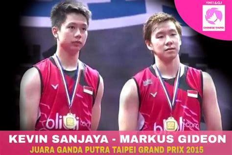 Sepatu Badminton Kevin Sanjaya ganda putra indonesia kevin juarai taiwan terbuka 2015