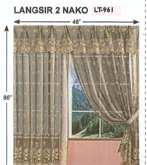 Kain Maxmara Panel 6 amani collection langsir 2 panel kain lace