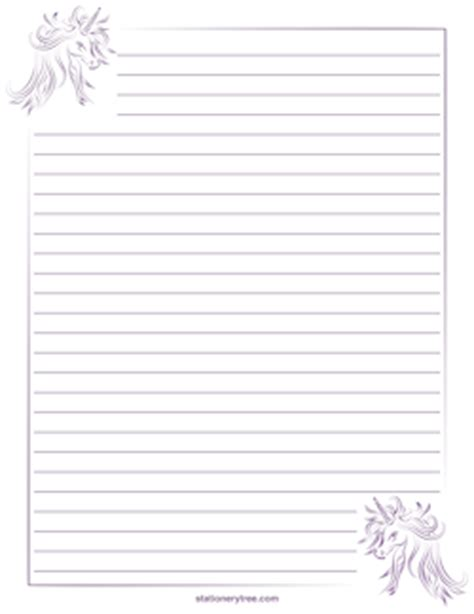 free printable unicorn stationery free fantasy stationery and writing paper