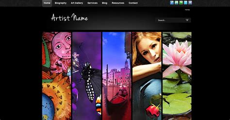 10 Free Joomla Photo Gallery Templates And Modules Demplates Artist Web Template