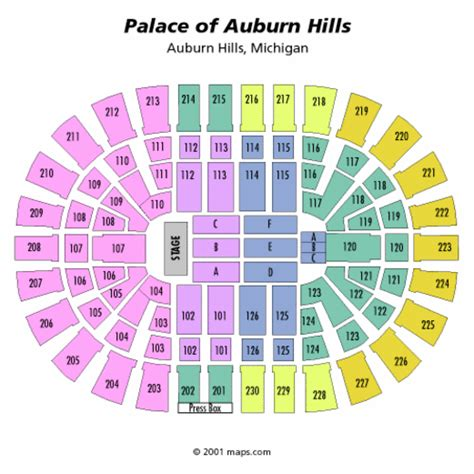 palace of auburn hills floor plan palace of auburn hills seating chart concert the palace