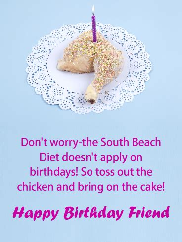 Detox Program Bring A Friend by Bring On The Cake Birthday Card For Friends