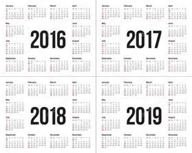 Kalendar Rok 2018 Kalendarz 2016 2017 Roku 2018 2019 Grafika Wektorowa