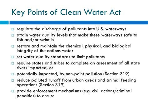 section 319 clean water act water pollution and treatment