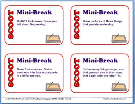html printable page break scoot solutions for when you have more students than cards