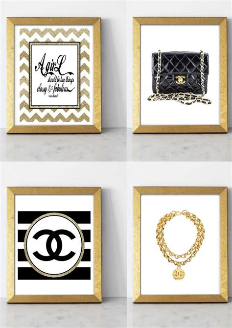 4 damask coco chanel quote vintage poster art print wall decor room design ebay