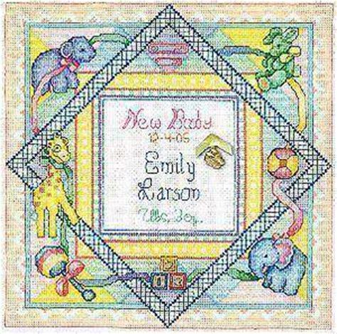 birth sampler  bobbie  cross stitch kits patterns