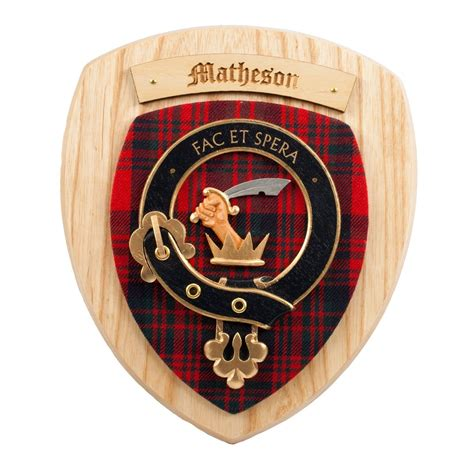 scottish gifts matheson family clan crest wall plaque ebay