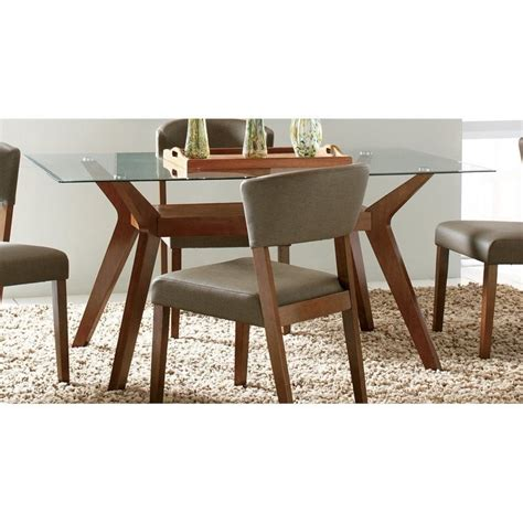 Coaster Glass Dining Table Coaster Glass Top Dining Table In Nutmeg 122171 Cb60rt Kit