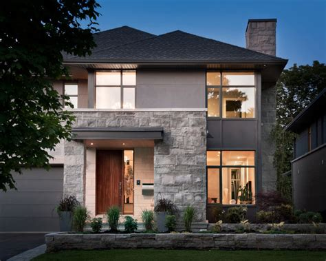 Stone Wall Living Room by Whitehaven Phase 1 Contemporary Exterior Ottawa By