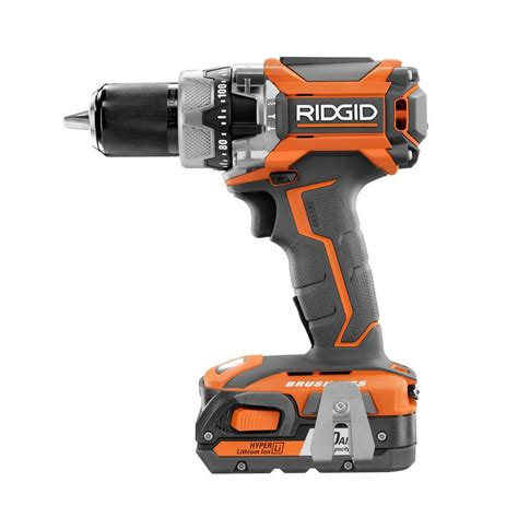 ridgid 18 volt lithium ion cordless brushless hammer drill