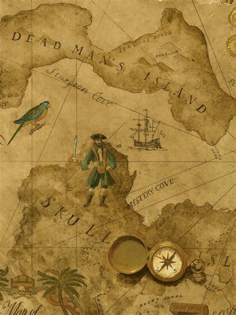 wallpaper english classic vintage pirate wallpaper 52 for a double roll i was