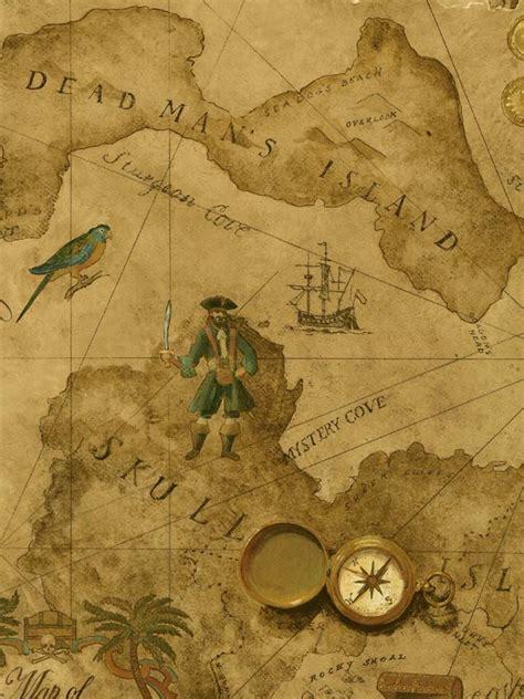 Fathead Wall Sticker vintage pirate treasure map wallpaper