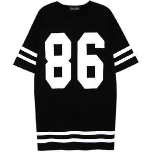 Duvet Coats Top Shop 86 Printed Black White Jersey T Shirt Polyvore