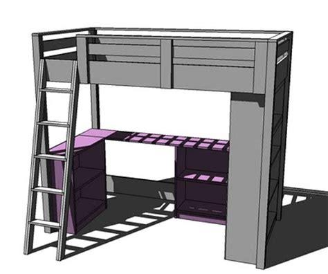 how to build a loft bed with desk loft bed plans with desk bed plans diy blueprints