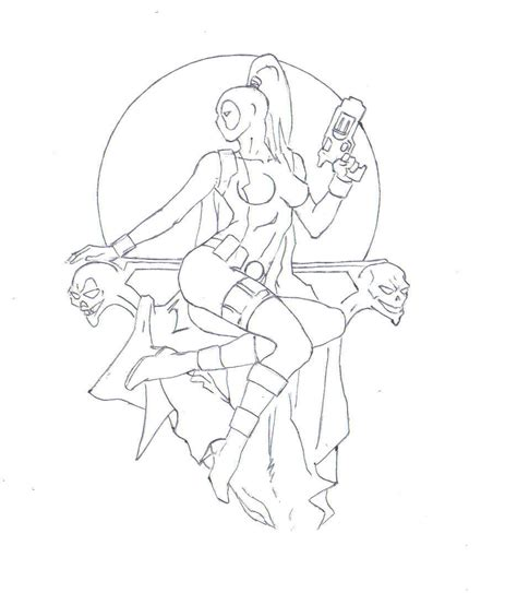 lady deadpool coloring pages image gallery lady deadpool drawings