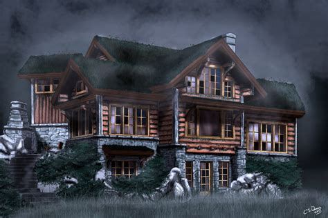 Haunted Cabins by Haunted Cabin By Lostlinkart On Deviantart