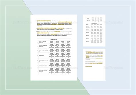 advertising contracts templates advertising contract template in word apple pages