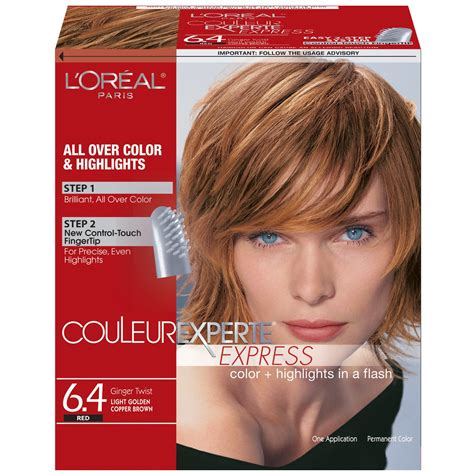 Loreal Ginger Twist Highlight Placements | l oreal paris couleur experte color highlights in a