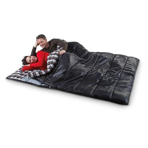 comfort rating sleeping bag ozzie and harriet 80x66 quot double sleeping bag black