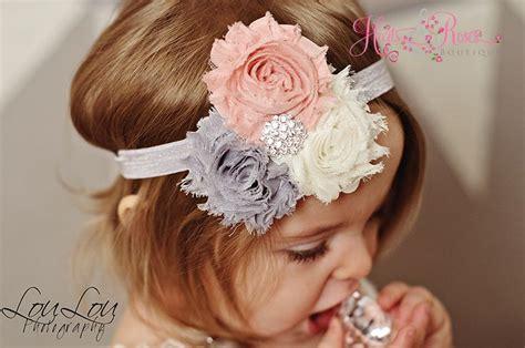 shabby chic baby girl headbands baby headbands vintage