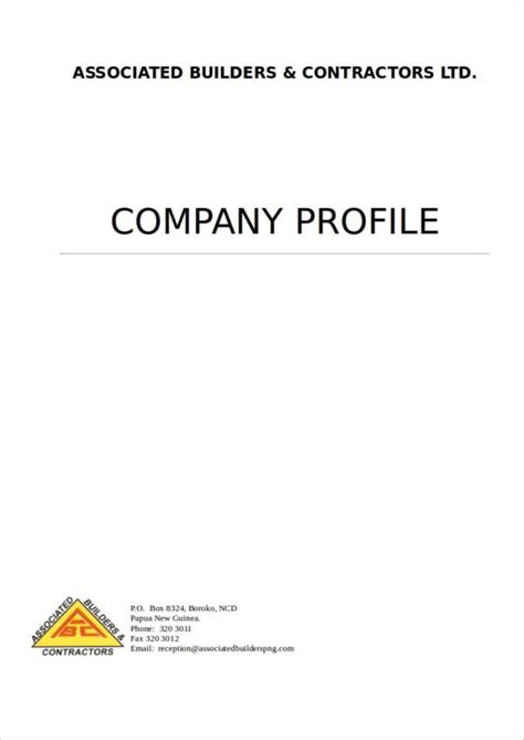 18 simple company profile sles templates free word