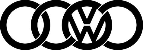 audi vw logo stickerjpg  cool cars pinterest audi  volkswagen