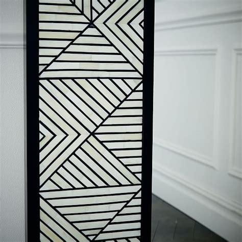 triangle bone inlaid floor mirror west elm