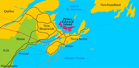 east coast canada map canada map east coast