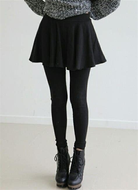 Skirt Legging Black grunge black sweater weather fashion