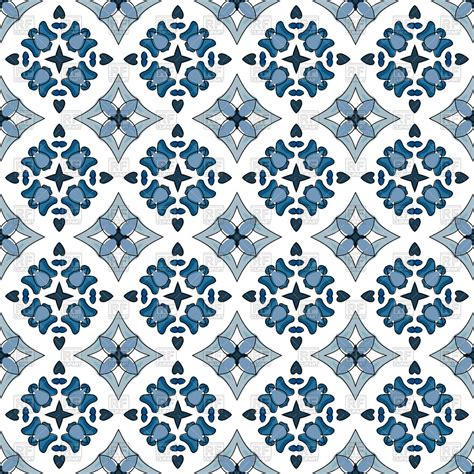 tiles pattern vector seamless pattern in traditional style portuguese tiles