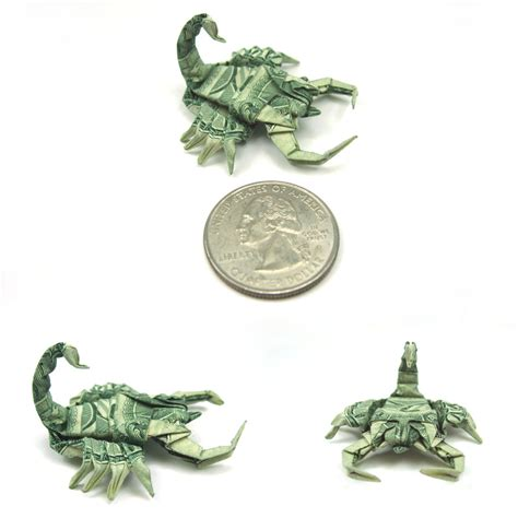 How To Make An Origami Scorpion - master dollar bill origami by won park