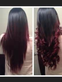 burgundy black hair color ombre black to burgundy hair ombre