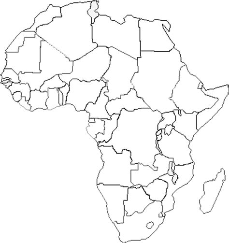 africa map colouring pages