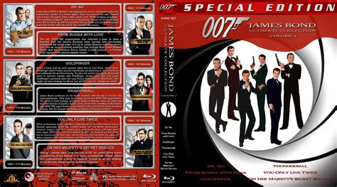 james bond ultimate collection volume 1 movie blu ray custom covers jbc 1 br dvd covers