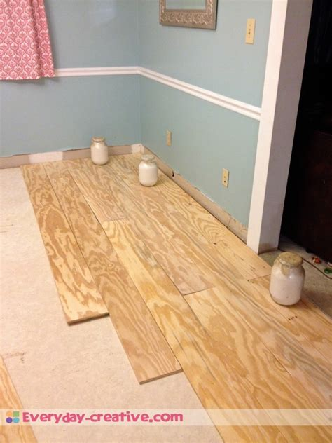 Plywood Plank Flooring, an inexpensive replacement for