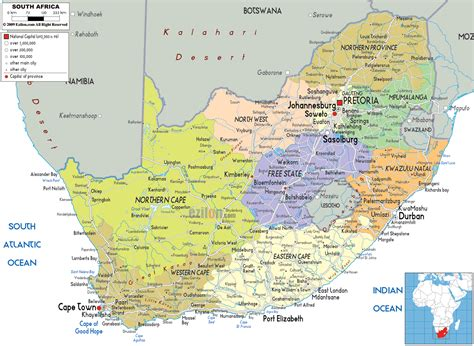 south africa map detailed clear large map of south africa ezilon maps