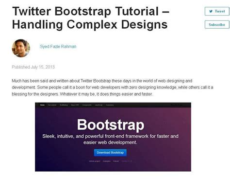 tutorial menggunakan bootstrap twitter the best free bootstrap tutorials