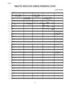 groundhog day musical sheet sketches on groundhog day by g mosse sheet on