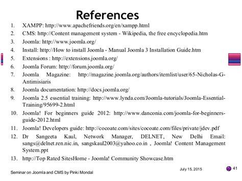 joomla tutorial for beginners ppt joomla cms seminar ppt